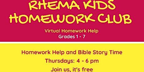 Rhema Kids Homework Club tickets