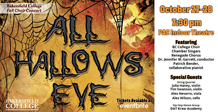 Bakersfield College Choirs Fall Choral Concert: All Hallows' Eve tickets