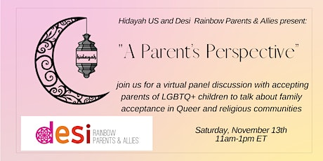 """""""A Parent's Perspective"""" with Desi Rainbow Parents + Allies and Hidayah US tickets"""