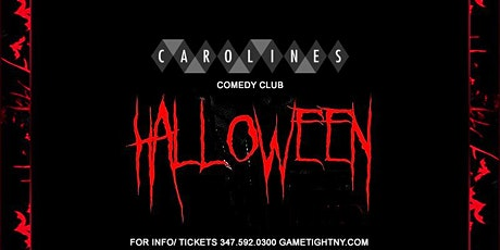 Carolines on Broadway Comedy Club Halloween party 2021 tickets