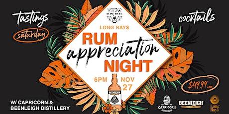 Rum Appreciation Night at Blind Tiger tickets