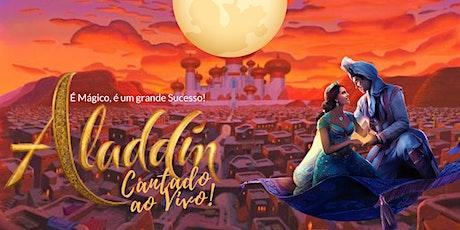 DESCONTO! Espetáculo Aladdin Cantado Ao Vivo no Mansão Teatro Tatuapé ingressos