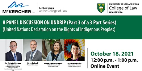McKercher LLP  Lecture Series presents: Panel Discussion on UNDRIP tickets