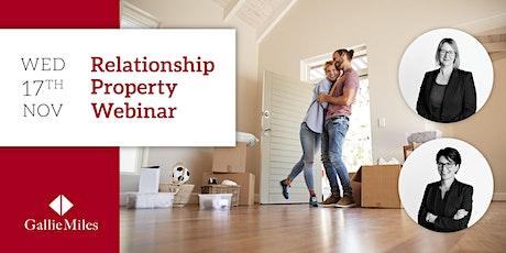 Relationship Property Webinar tickets