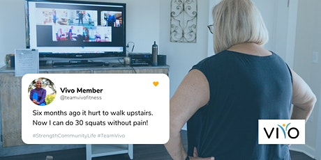 Free  Virtual Strength Training Class for Adults 55+ tickets