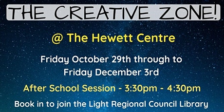 Term 4: AFTER SCHOOL: The Creative Zone @ The Hewett Centre tickets
