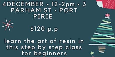 Resin art workshop PT PIRIE (beginners over 18) tickets