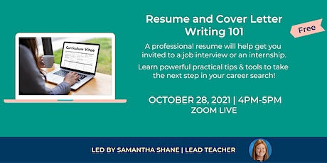 Resume and Cover Letter Writing 101 tickets