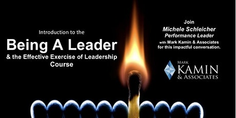 """Introduction to """"Being A Leader & The Effective Exercise of Leadership"""" tickets"""