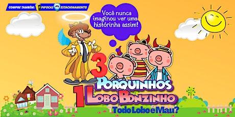 """DESCONTO!  """"Três Porquinhos, um Lobo Bonzinho"""" no Mansão Teatro Tatuapé ingressos"""