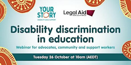 Disability Discrimination in Education - Webinar tickets