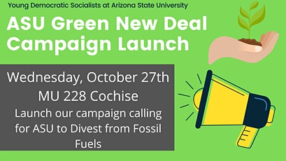 Divest ASU Campaign Launch tickets