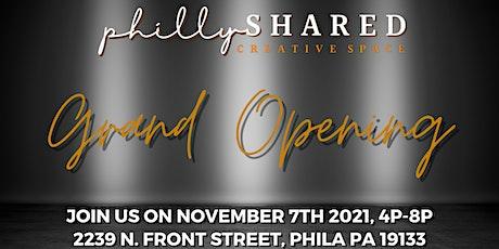 phillySHARED Grand Opening tickets