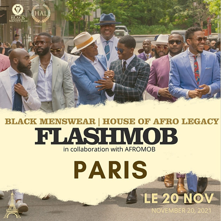 Black Menswear FlashMob Paris image