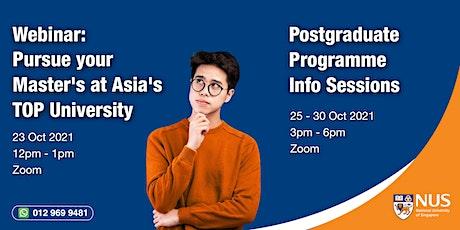 National University of Singapore : Webinar & Programme Info Session tickets