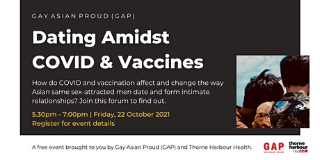 Gay Asian Proud (GAP): Dating Amidst COVID and Vaccines tickets