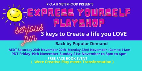 EXPRESS YOURSELF  Playshop ( Where Creative Play M tickets