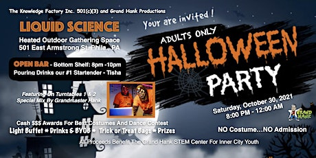 1st Annual Halloween Costume Party  At Liquid Science (ADULTS ONLY) tickets