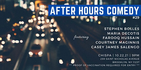 After Hours Comedy Show #29 tickets
