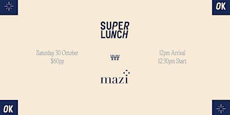 Mazi Wines x Bueno. Four Course Lunch. tickets