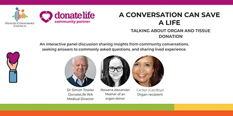 A conversation can change a life - talking about organ and tissue donation tickets
