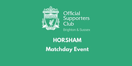 HORSHAM | The REC Rooms |  Man Utd v  LFC | 16:30 k/o tickets