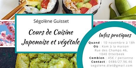 Cours de cuisine Japonaise et végétale billets