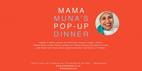 Mama Muna's Amsterdam Pop-up Dinner tickets