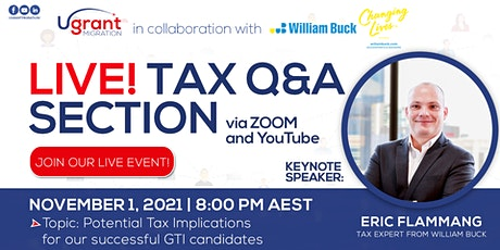 Live Q & A_Tax Implications for GTI Candidates tickets