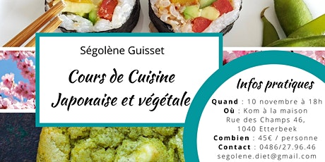 Cours de cuisine Japonaise et végétale tickets