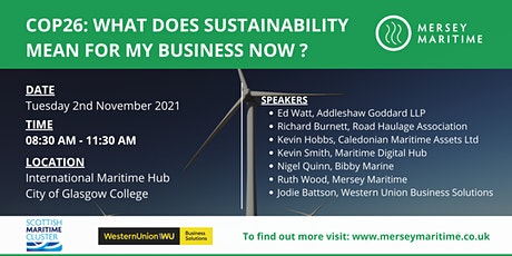 COP26 'Face-2-Face' event: What does sustainability mean for my business? tickets
