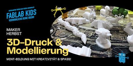 FabLabKids: maker-Herbst - 3D-Druck und Modellierung Tickets