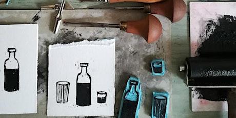 """Atelier de linogravure avec Lucie de """"Atelier For Intérieur"""" billets"""