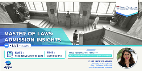Master of Laws: Admission insights tickets