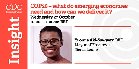 COP26 - What do emerging economies need and how can we deliver it? tickets