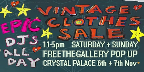 Epic Vintage Clothes Sale Pop Up - men's and women's DJs all day tickets