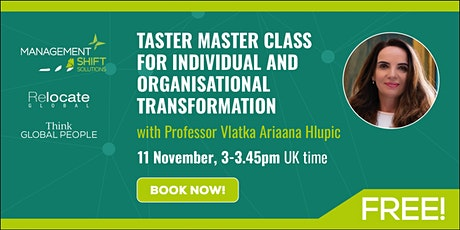 Free taster 'Master Class' for individual and organisational transformation tickets
