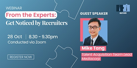 From the Experts: Get Noticed by Recruiters tickets