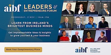 Leaders & Entrepreneurs Forum tickets