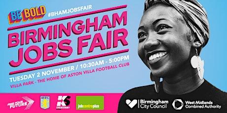 Birmingham Jobs Fair - 12.30 tickets