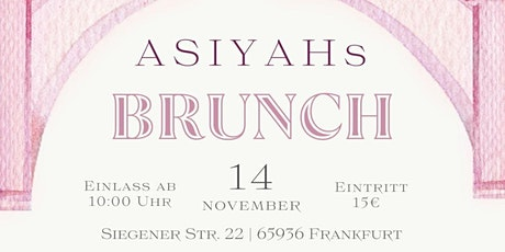 ASIYAH Brunch Tickets