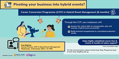 [Webinar] Course Preview: Career Conversion Programme in Hybrid Event Mgmt tickets