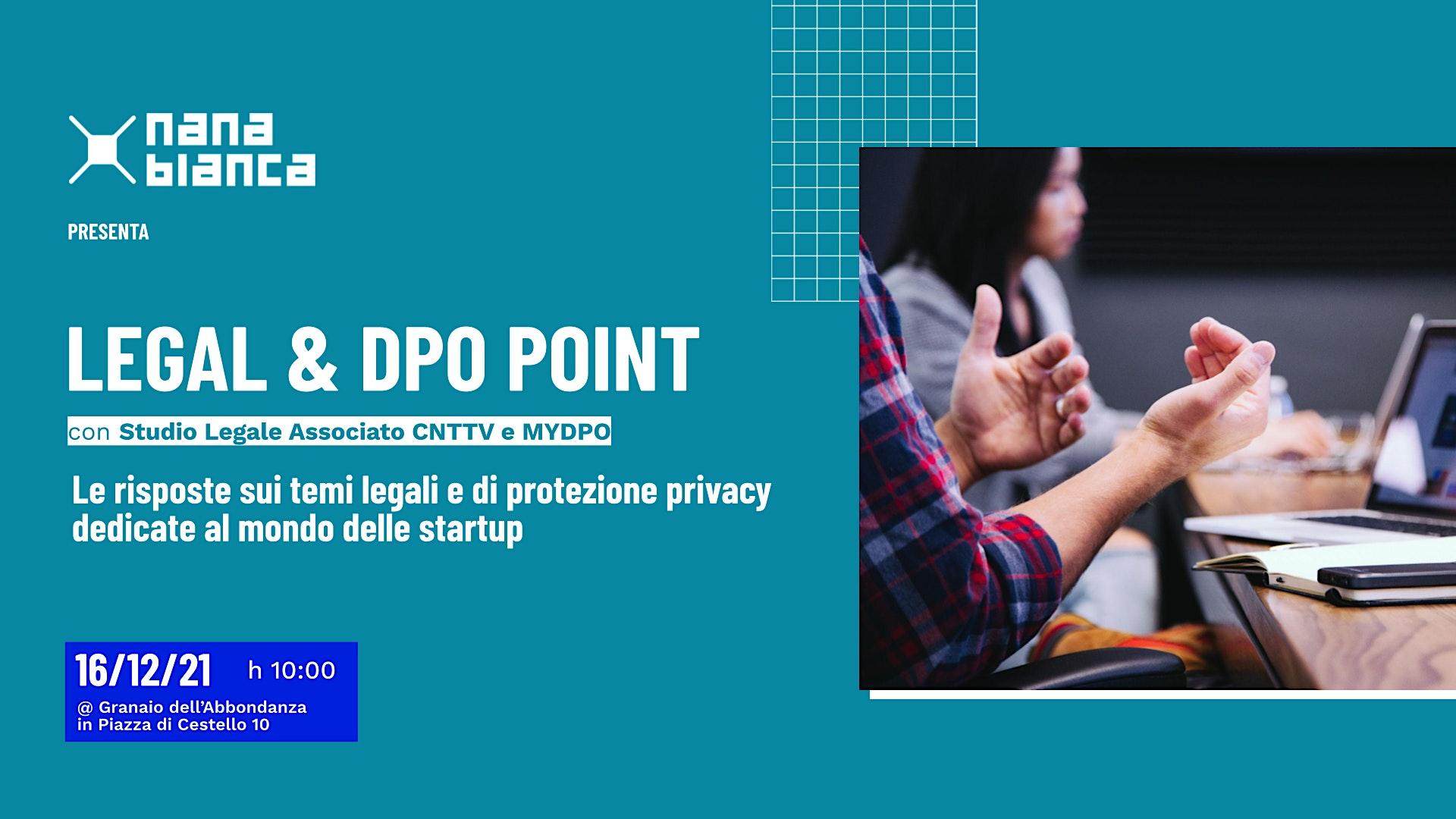 Legal & DPO Point: sportello di consulenza legale e privacy