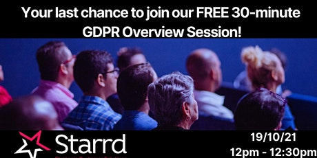 Starrd Solutions Free GDPR Overview Event tickets