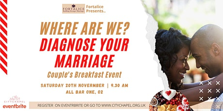 Couples Breakfast Meeting: Where are we? - Diagnosing your marriage tickets
