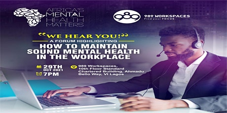 How To Maintain Sound Mental Health In The Workplace tickets