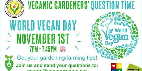 Veganic Gardeners Question Time November 1st tickets