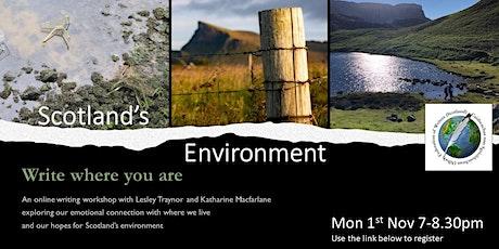 Scotland's Environment: Write Where You Are tickets