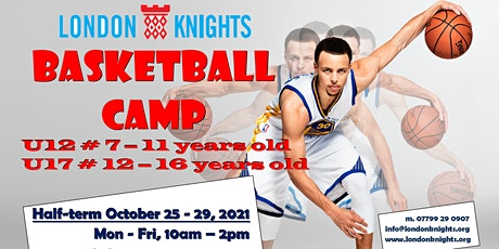 October half-term, Junior Basketball Camp (U18's & U12's) tickets