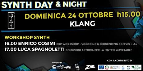 Synth Day & Night | 24.10 | KLANG biglietti